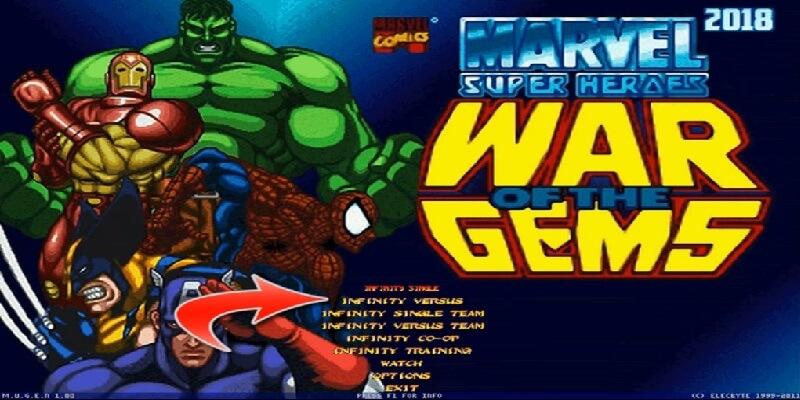 MARVEL SUPER HEROES WAR OF THE GEMS MUGEN