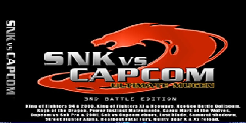 SNK VS CAPCOM ULTIMATE MUGEN 3RD BATTLE EDITION