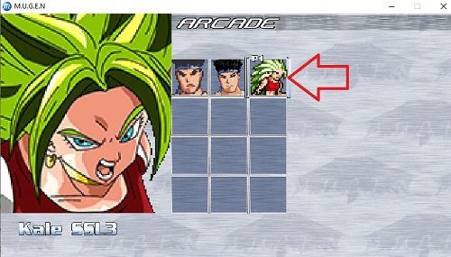 character added in mugen de ultimo