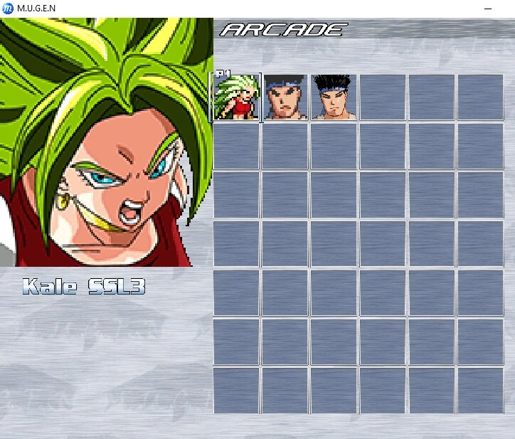 more rows and columns of characters in mugen