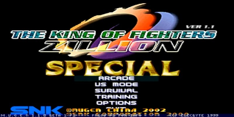 THE KING OF FIGHTERS ZILLION SPECIAL MUGEN